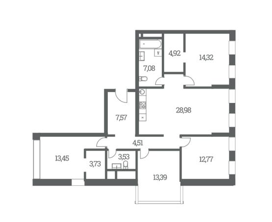 Четырехкомнатные квартиры в ЖК Headliner