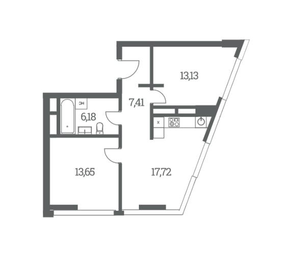 Двухкомнатные квартиры в ЖК Headliner